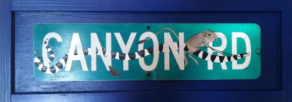 Acrylic on retired street sign.