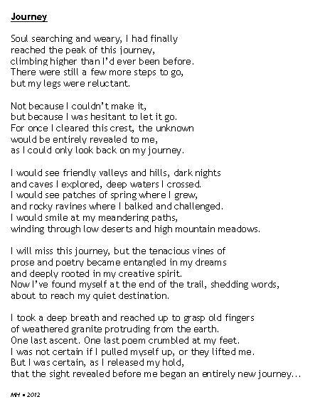 the excursion poem