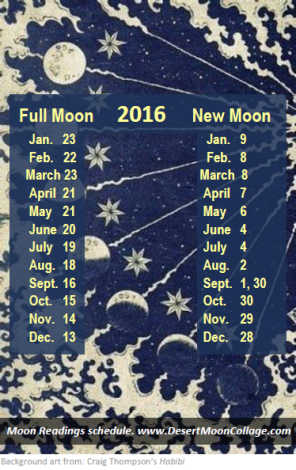 new-full moon dates