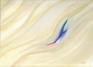 """Winter Renewal"" acrylic on canvas, 12""x 9"""