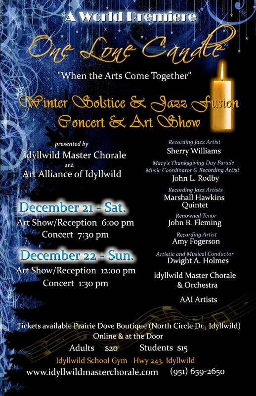 Winter Solstice and Jazz Fusion music-art show