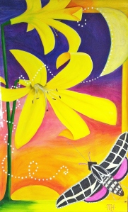 "Lemon Lily banner ""DUSK"" 3' x 5'  (click to enlarge)"