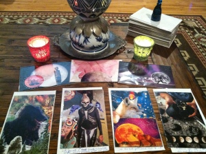 Raven reading. A four-card reading, drawing a card from each suit of my SoulCollage®  deck.
